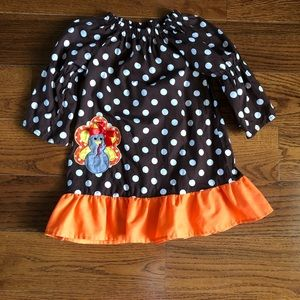 Girls Fall Polka Dot Dress / Thanksgiving Dress